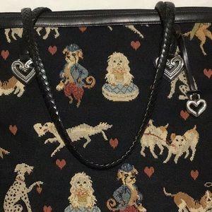 Brighton Tapestry Doggie Weekend Bag MINT
